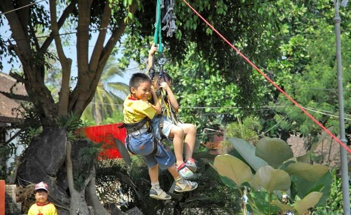 Tlogo Resort & Goa Rong View Salatiga - Flying Fox