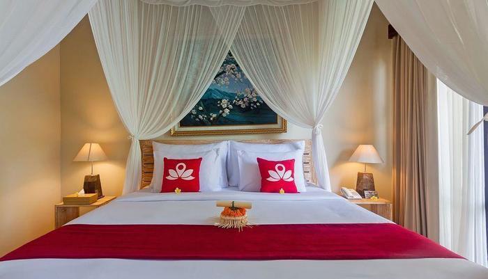 ZenRooms Tampak Siring Bali - Tampak tempat tidur double
