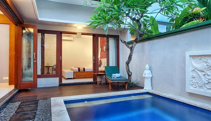 Villa Tukad Alit Bali - One Bedroom Villa Pool and room