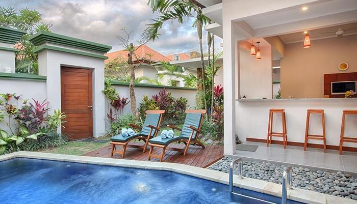 Villa Tukad Alit Bali - Two bedrooms villa private pool.