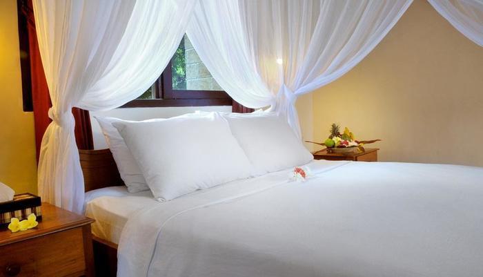Coral View Villas Bali - Deluxe Bungalow tempat tidur Double