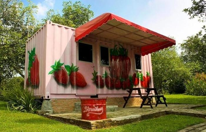 D'Cabin Hotel Container Mekarsari Bogor - Eksterior