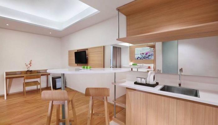 fave hotel Palembang - Fasilitas Kamar