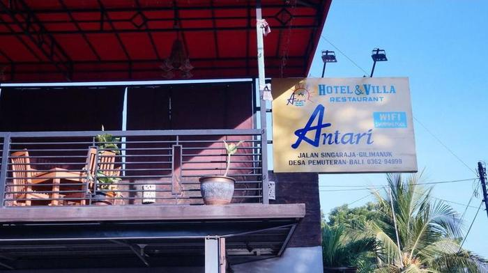 Antari Hotel Bali - Hotel Front - Evening/Night