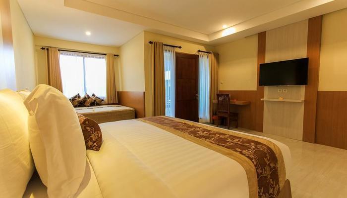 Hotel Ombak Paradise Lombok - Kamar tidur