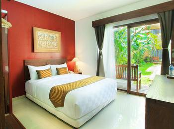 Hotel Puriartha Ubud Bali - Deluxe Double with Balcony and Pool View Breakfast MLOS2