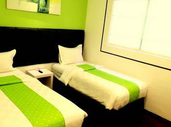 Arbor Biz Hotel Makassar - Deluxe Twin Room Only - Sulawesi Deals Regular Plan