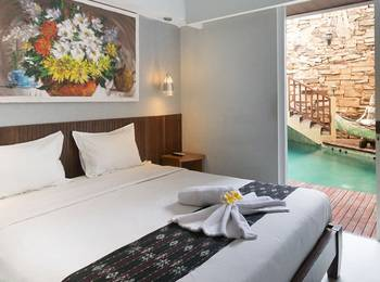 Hadi Poetra Hotel Bali - Traveller Room Pool View With Balcony Room Only Regular Plan