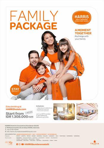 HARRIS Hotel & Conventions Bundaran Satelit Surabaya Surabaya - HARRIS Room Family Package 2 rooms included Regular Plan