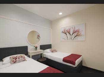 Value Hotel Balestier Singapore - Twin Room, 2 Twin Beds, No Windows Regular Plan