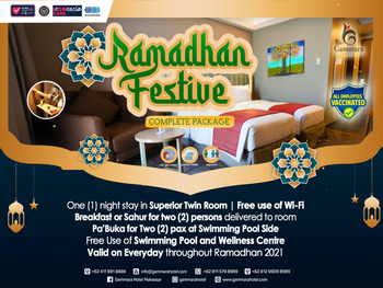 Gammara Hotel Makassar - Superior Twin Ramadhan Package Last Minutes 15%