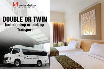 Swiss Belinn Manyar Surabaya - Deluxe Double or Twin include Drop or Pick Up Transport Regular Plan