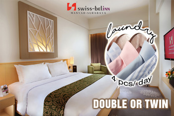 Swiss Belinn Manyar Surabaya - Deluxe Room Include Laundry 4pcs day Regular Plan