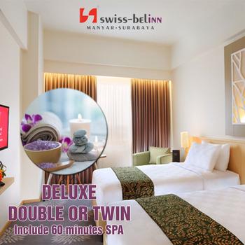Swiss Belinn Manyar Surabaya - Deluxe Double or Twin include 60 minutes Spa Regular Plan