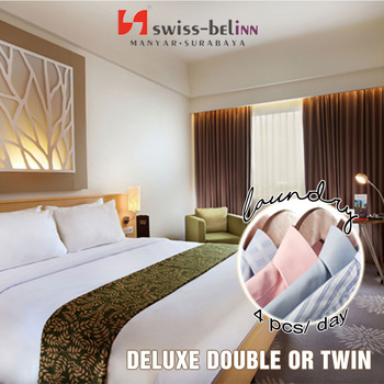 Swiss Belinn Manyar Surabaya - Deluxe Room Include Laundry 4pcs day Regular Plan