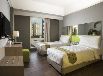 Pesonna Hotel Semarang - Deluxe Twin Room Only Regular Plan