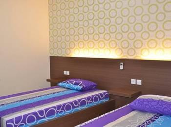 Oval Guest House Balikpapan - Twin room  tinggal jangka panjang