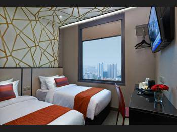 Hotel Boss Singapore - Superior Twin City View 2 Pax NC Hemat 5%