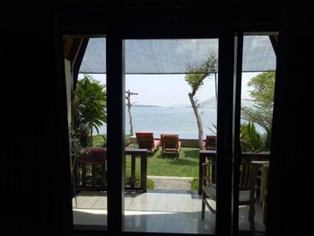 Krisna Bungalow and Restaurant Lombok - Lumbung Bungalow Sea View With Fan Special Promo