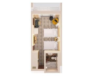 Hilton Singapore - Deluxe Room, 2 Twin Beds Regular Plan