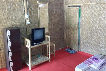 Bamboo Lengkung Cottage Jogja - Kamar standar bamboo Kipas dengan sarapan Regular Plan