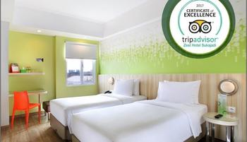 Zest Hotel Sukajadi Bandung - Zest Twin Room With Breakfast Regular Plan