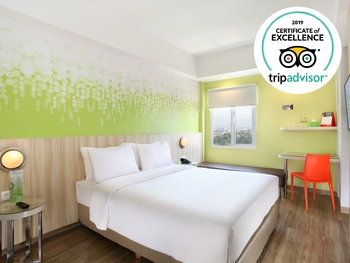 Zest Hotel Sukajadi Bandung - Zest Queen Room Only Regular Plan