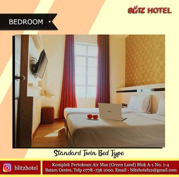 BLITZ HOTEL Batam Center Batam - Deluxe Twin Room Only Longstay Deals