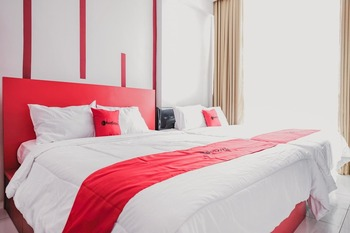 RedDoorz @ Jalan Sukabangun 2 Palembang Palembang - RedDoorz Twin Room with Breakfast Basic Deal