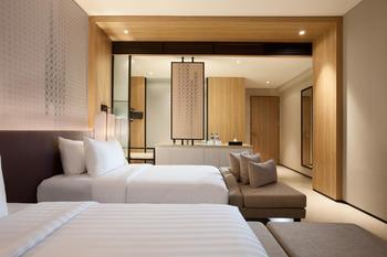 Hotel Santika Premiere Bandara Palembang - Deluxe Room Twin Lake View Staycation Offer Room Only Regular Plan