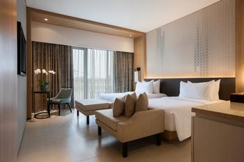 Hotel Santika Premiere Bandara Palembang - Deluxe Twin Room Garden View Regular Plan