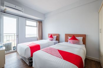 OYO 1405 Easton Park Residence Sumedang - Deluxe Twin Room Regular Plan