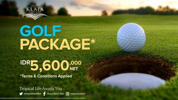 Klapa Resort Bali - Golf Package Min 2 nights stay Regular Plan