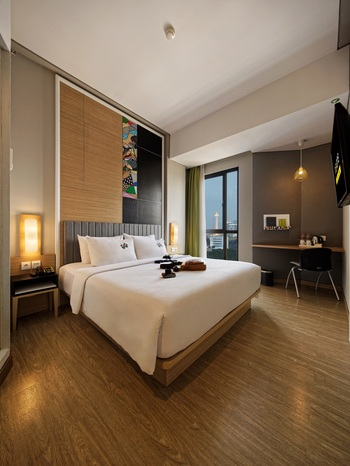 MaxOneHotels at Platinum Hayam Wuruk - Jakarta Jakarta - Happiness Double Bed Room Only Regular Plan