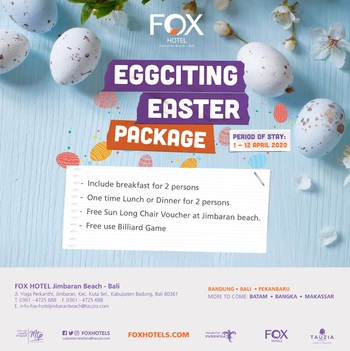 FOX Jimbaran Beach Bali - Eggciting Easter Package Deluxe Regular Plan