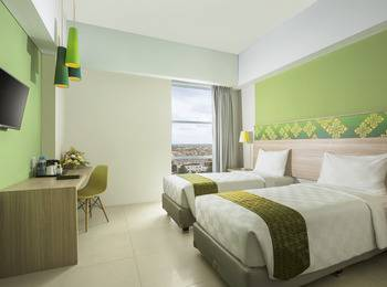 Pesonna Hotel Pekanbaru - Deluxe Twin - Room Only Regular Plan