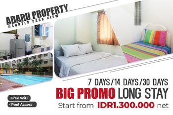 Adaru Property@Sunter Park View Jakarta - 2 Bedroom Room Only Weekly Gateway