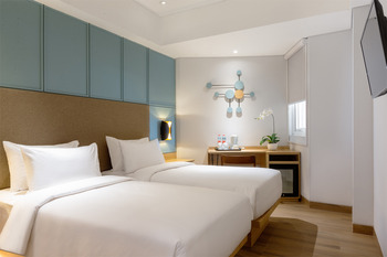 Hotel Santika Pasir Koja Bandung - Superior Room Twin Staycation Offer Room Only Regular Plan