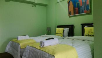 Lite Rooms Jakarta - LITE TWIN Regular Plan