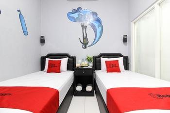 RedDoorz near Graha Saba UGM Yogyakarta - RedDoorz Twin Room Regular Plan