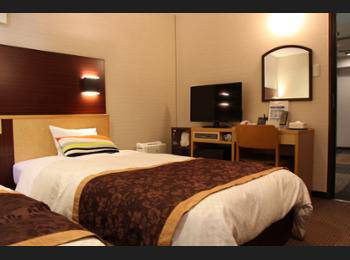 Ueno First City Hotel Tokyo - Kamar Twin Basic, 2 Tempat Tidur Twin, smoking, lemari es Regular Plan