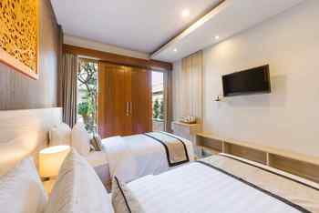 Mahesa Home Seminyak Bali - Deluxe Twin Room Regular Plan