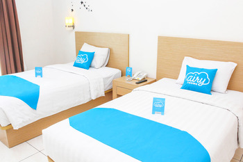 Airy Kuta Kartika Plaza 9 Bali - Deluxe Twin Room Only Regular Plan