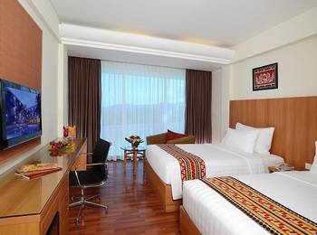 Emersia Hotel Lampung - Executive City View Twin Bed Room Only / No Breakfast  Last Minute Deal