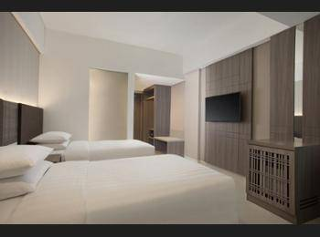 Fairfield Inn by Marriott Belitung - Deluxe Room, 2 Twin Beds, Balcony, Oceanfront Regular Plan
