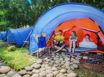 Green Coral Beach Camping Ground Tanjung Lesung Pandeglang - Bacpacker Tent Regular Plan