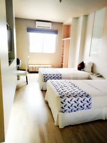 The L Hotel Entertainment Batam - Deluxe Twin Room Only Regular Plan