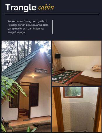 Camp Curug Batu Gede Cisuren Bogor - Triangle Cabin Regular Plan