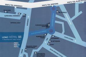Lemo Hotel Tangerang - Map