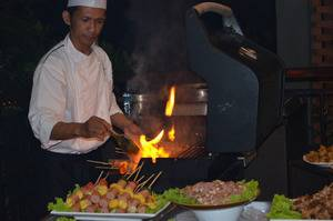 Amanuba Hotel & Resort Rancamaya Bogor - BBQ service